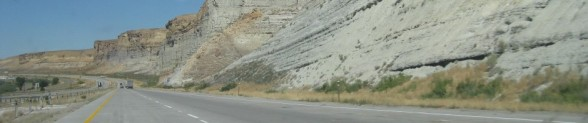 The original banner of The Artist's Road blog, taken on the road trip on Wyoming's 1-80 West.