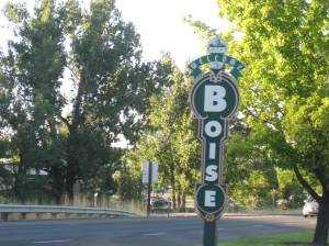 Boise, Idaho, home of Rochelle Smith, one of the artists whose wisdom is shared in my post on Melissa Cronin's blog.