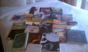This was my haul from an AWP I attended two years ago. So many literary journals, so many places that hadn't published me.