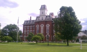 College Hall on the campus of the Vermont College of Fine Arts, where I will receive my MFA in Writing in early July.