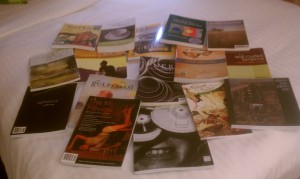 Some of my (heavy) haul from last year's AWP. Bring an extra suitcase.