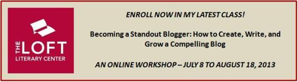 Loft blogging class banner ad -- Ross
