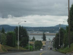 This photo looking at Portland, Oregon, from Vancouver, Washington, tells me it was overcast on the day I was there on my cross-country road trip. On that I feel I can trust my memory, however; isn't it always overcast in the Pacific Northwest?