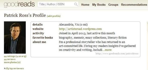 Goodreads profile Patrick Ross