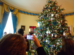 There was one thing I did this weekend other than read fiction. My wife and kids joined me on a tour of the White House to see it decorated for Christmas. Fortunately we went on Saturday, the day before the big winter storm came!