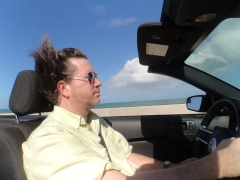 Some recent posts have noted that I am in a post-MFA writing slump, but I believe a holiday trip I took to Key West, Florida, may have invigorated me, as much as a drive up the Keys on Route 1 appears to have invigorated my hair.