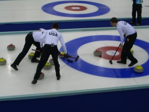 The U.S. Men's Curling team at the 2006 Winter Olympics in Turin, Italy. (wikipedia commons)