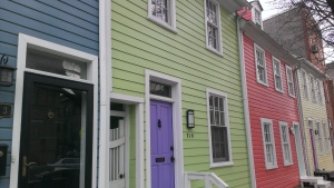 A charming stretch of Fells Point rowhouses just north of Baltimore's Steven Scott Gallery.