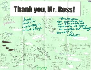 I love my Loft Literary Center students, but they've never teamed up to make me a thank-you poster!