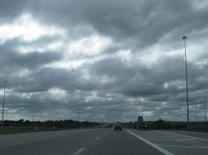 An ominous eastern Nebraska sky, taken on the cross-country road trip depicted in Committed.